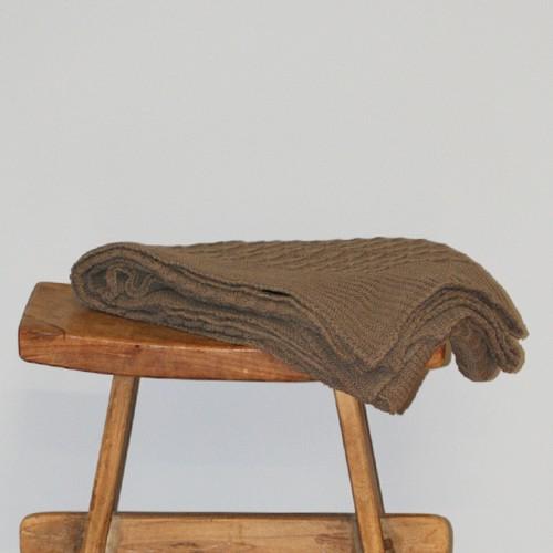 Sprei Cable knit bruin