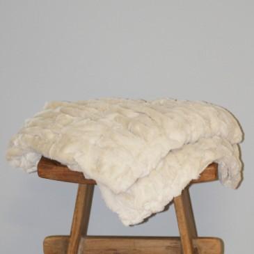 Stof Sprei Ivory Fur